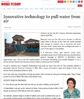 Innovative technology to pull water from air