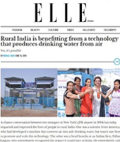 Rural India is benefitting from a technology that produces drinking water from air